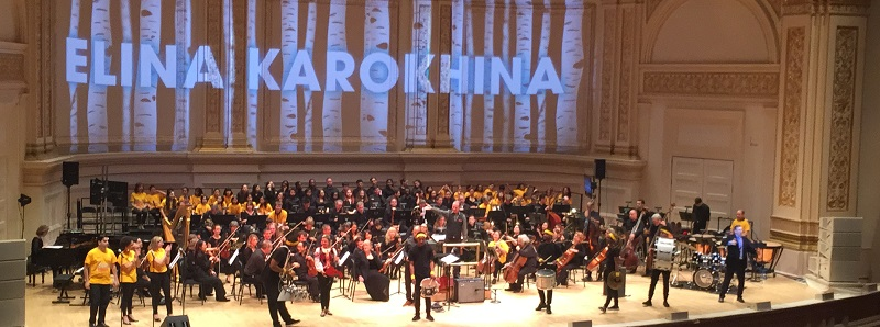Elina Karokhina on the main stage of Carnegie Hall in New York City
