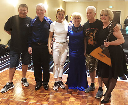 Mikhail Smirnov, Volodymyr Marunych, Elina Karokhina, Natalia Marunych, Leonid Bruk, Tetiana Khomenko, BDAA 40th Anniversary conference, BDAA-2018, Balalaika and Domra Association of America, Valley Forge Casino Resort, King Of Prussia, Pennsylvania, USA July 2018