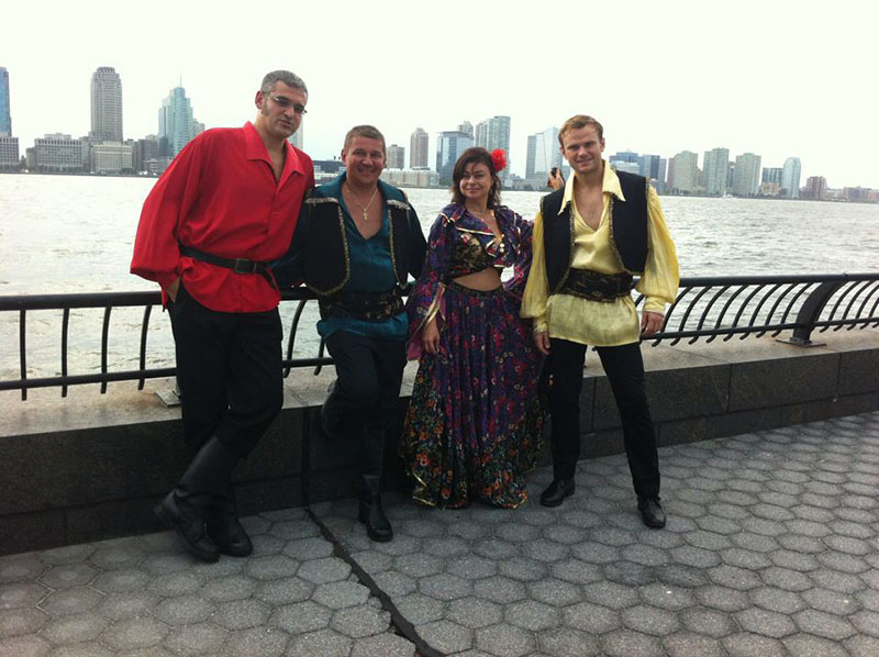 Alexadre Tseytlin, Mikhail Smirnov, Elina Karokhina, Pasha Zhivago, Birthday party, New York City