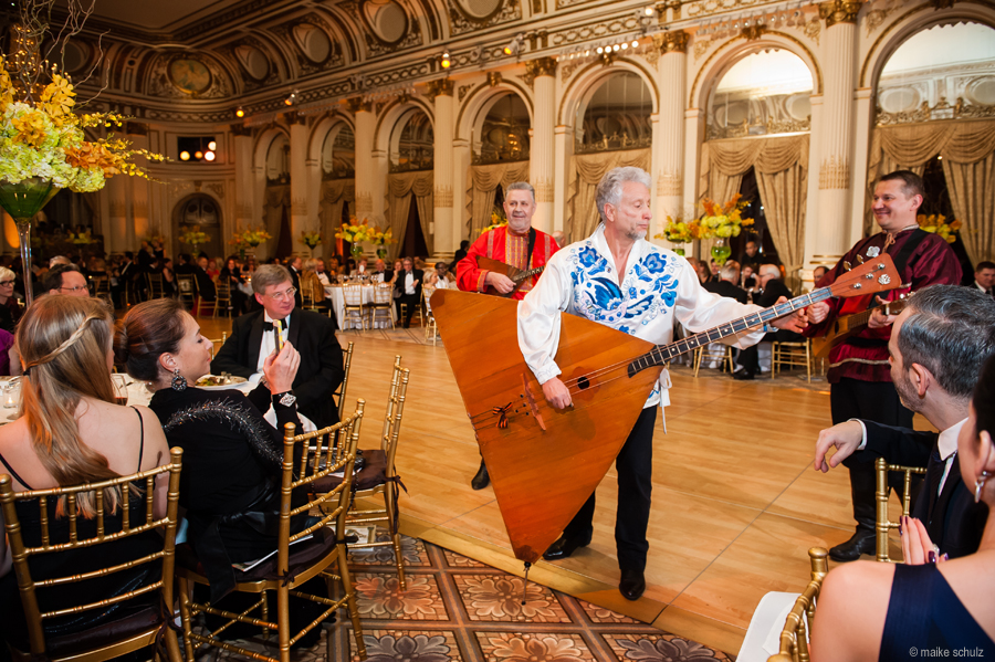 Ensemble Barynya, Lev Zabeginsky, Mikhail Smirnov, Leonid Bruk, Petroushka Ball 2013, The Plaza Hotel, New York City, USA, Photo credit :: Maike Schultz