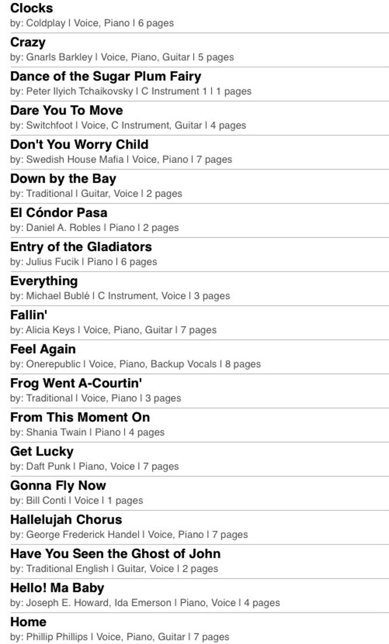 NYC violinist playlist 05
