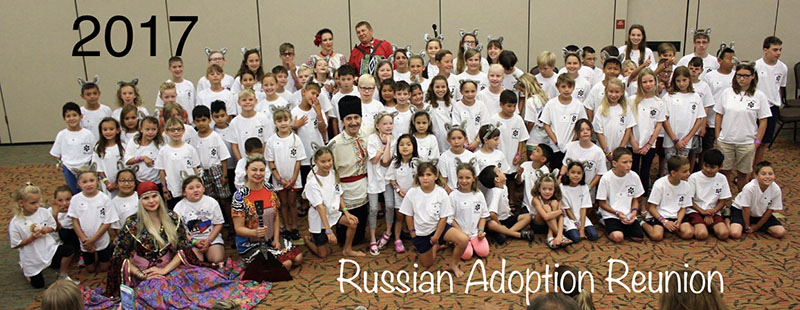Lilia Babenko, Elina Karokhina, Alisa Egorova, Mikhail Smirnov, Russian Adoption Reunion-2017, Great Wolf Lodge, Garden Grove, California