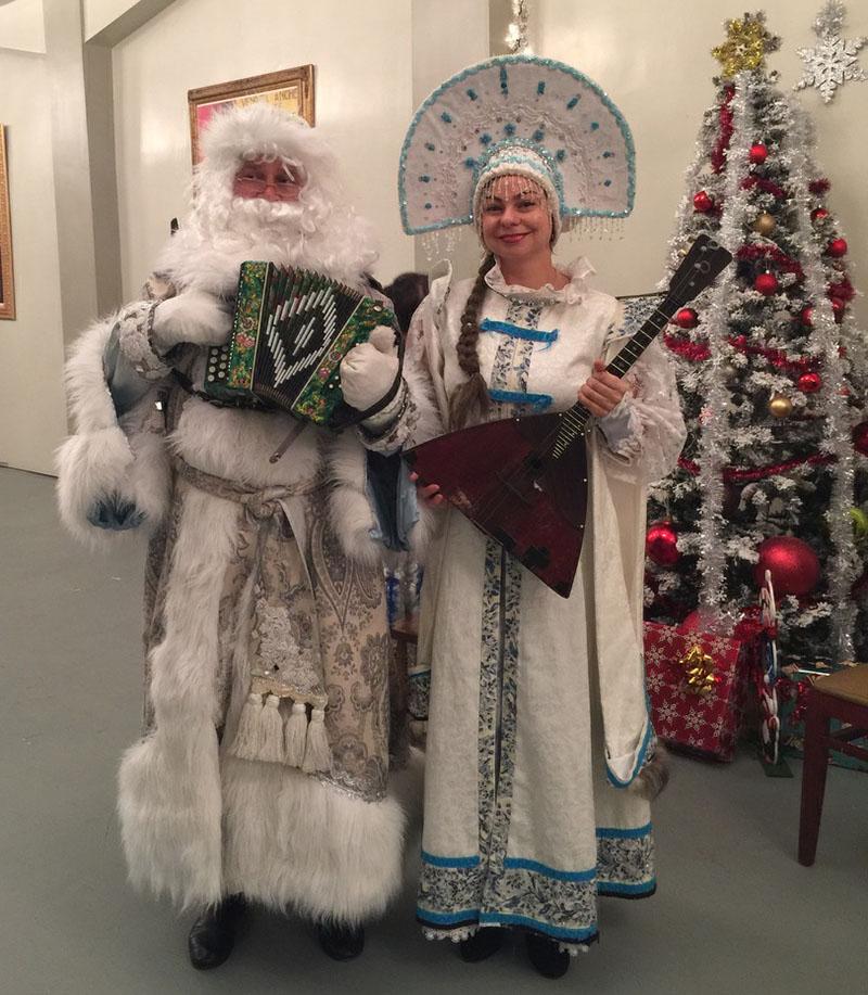 New Year's Celebration, Ded Moroz, Snegurochka, Master Theater (former Millenium), Brighton Beach, Brooklyn, New York, Дед Мороз, Снегурочка, Новогодняя ёлка в Мастер-Театр, Брайтон-Бич, Бруклин, штат Нью-Йорк