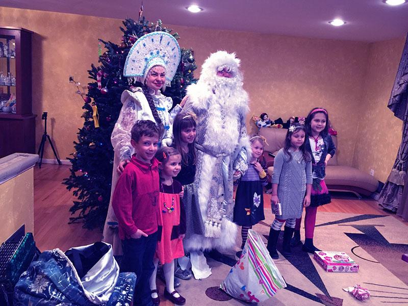 New Year's Celebration, Ded Moroz, Mercer County, Hamilton Township, New Jersey, Дед Мороз, Новогодняя ёлка в городе Гамильтон, графство Мерсер, штат Нью-Джерси