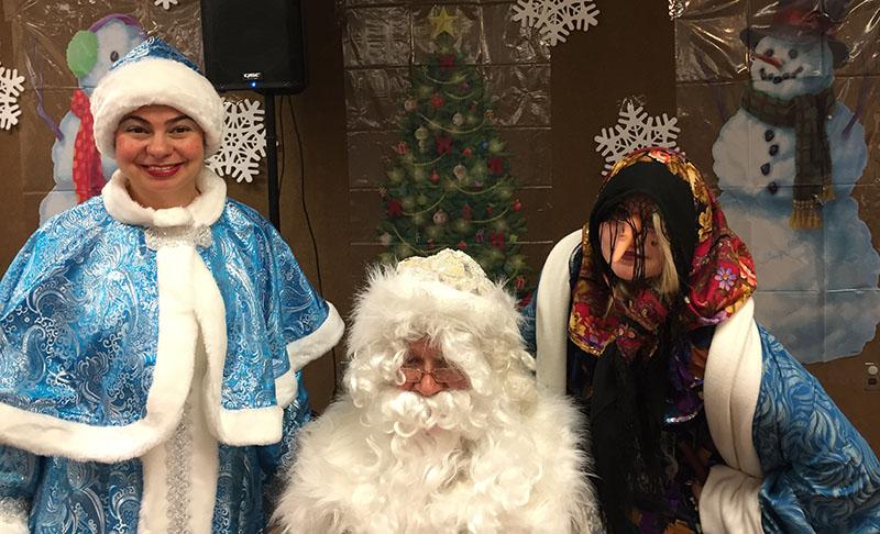 New Year 2016 Celebration, Ded Moroz, Snegurochka, Baba Yaga, Bergen County, New Jersey, Fort Lee Public Library, Дед Мороз, Снегурочка, Баба Яга, Новогодняя ёлка в публичной библиотеке города Форт Ли, графство Берген, штат Нью-Джерси