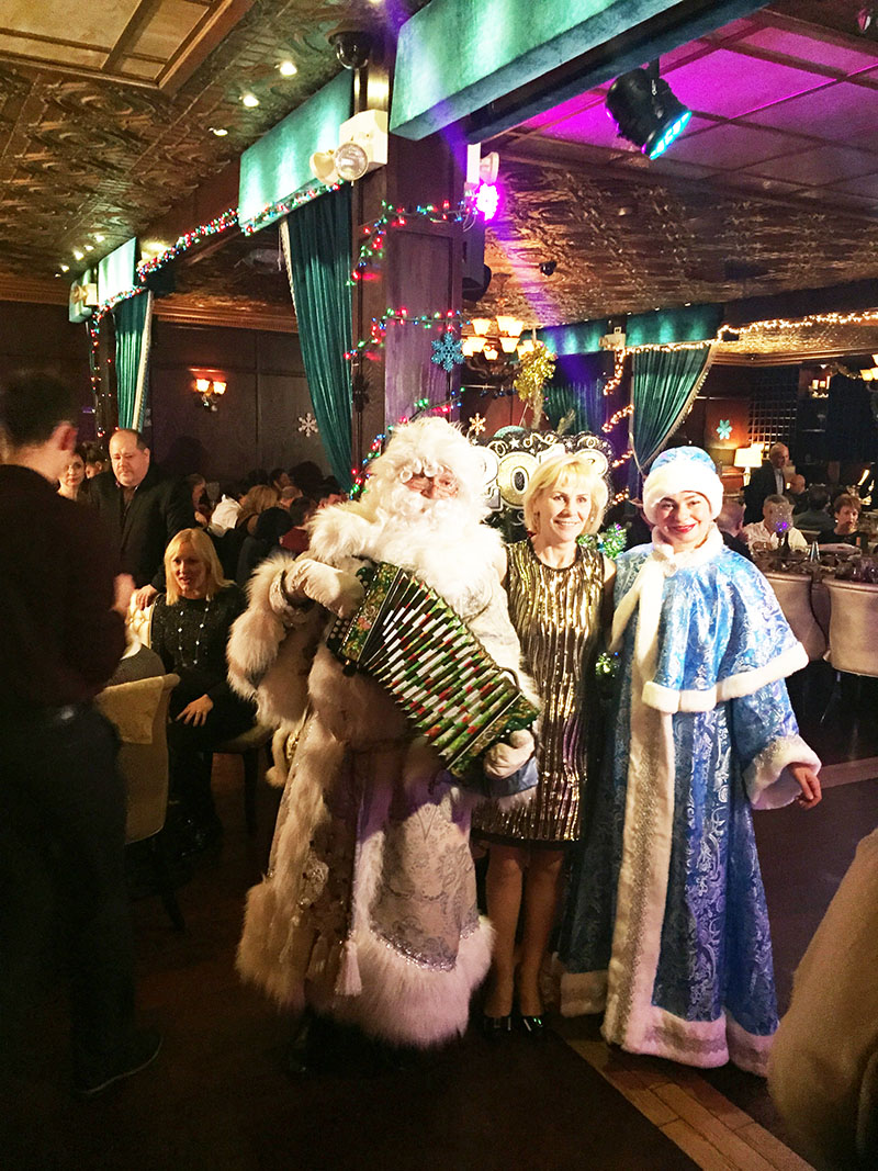 Ded Moroz, Snegurochka, Russian New Year Celebration, Emmons Avenue, Sheepshead Bay, Brooklyn, New York