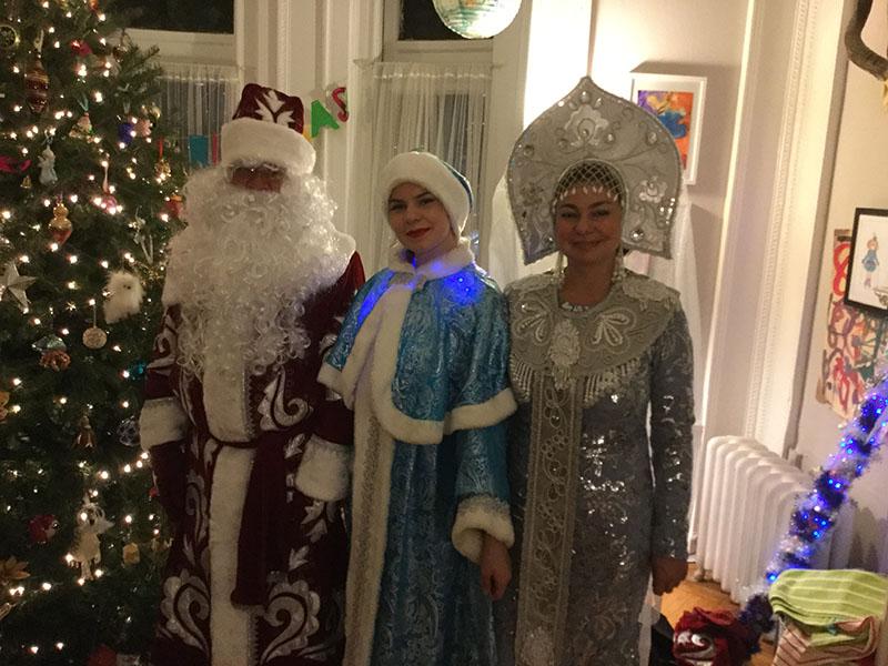 Дед Мороз, Снегурочка и Снежная Королева, Нью-Йорк