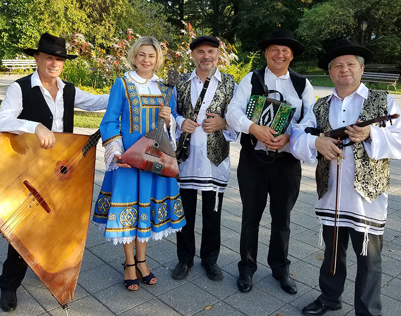 """NYC Klezmer"" band at the Queens Botanical Garden, Flushing, New York"