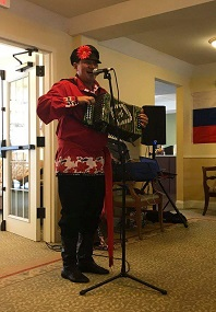 Massachusetts Assisted Living concerts Russian Balalaika Duo, Mikhail Smirnov