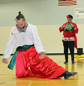 Serhiy Tsyganok, Mikhail Smirnov, Ukrainian folk song and dance, Pidmanula, You Tricked Me, Sixth Grade Academy, Lovington, New Mexico, photo by Jaycie Chesser