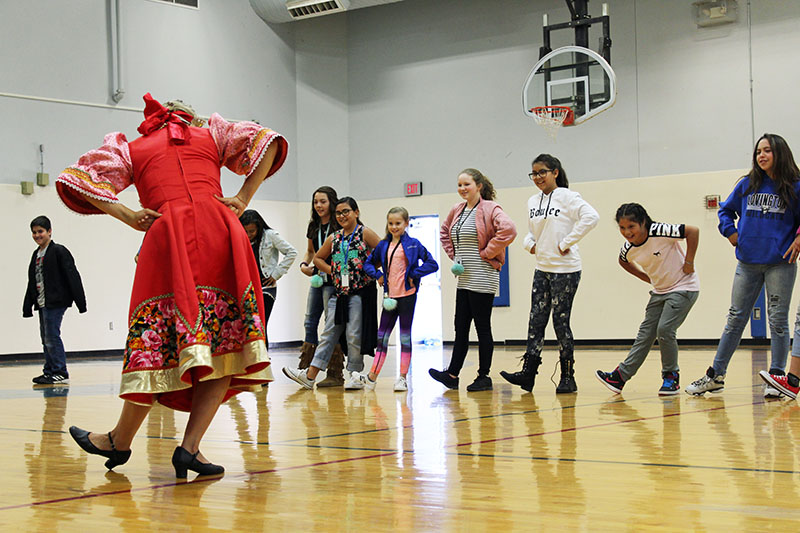 Russian dance workshop, Elina Karokhina, Sixth Grade Academy, Lovington, New Mexico, Photo by Jaycie Chesser