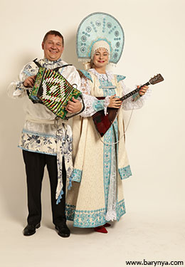 New York Balalaika Duo, Mikhail Smirnov, Elina Karokhina, photo credit Yuriy Balan
