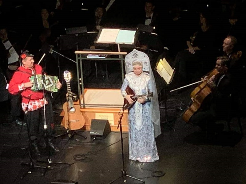 Barynya Balalaika Duo, Elina Karokhina, Mikhail Smirnov, From Russians With Love, Charleston Symphony Orchestra, Charleston Gaillard Center, Charleston, South Carolina